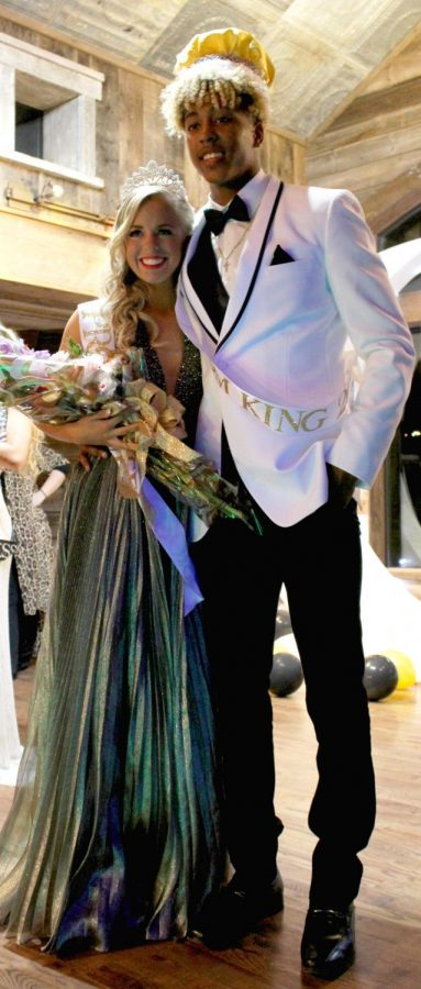 Blake Aragon and Kristen Pettit celebrate their titles of Prom King and Queen with lots of smiles, dancing, and fun.