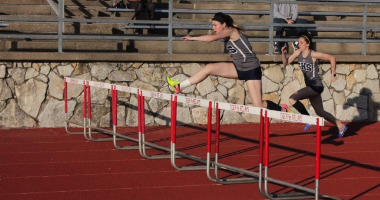 Junior Bailey McBee leaps for success.