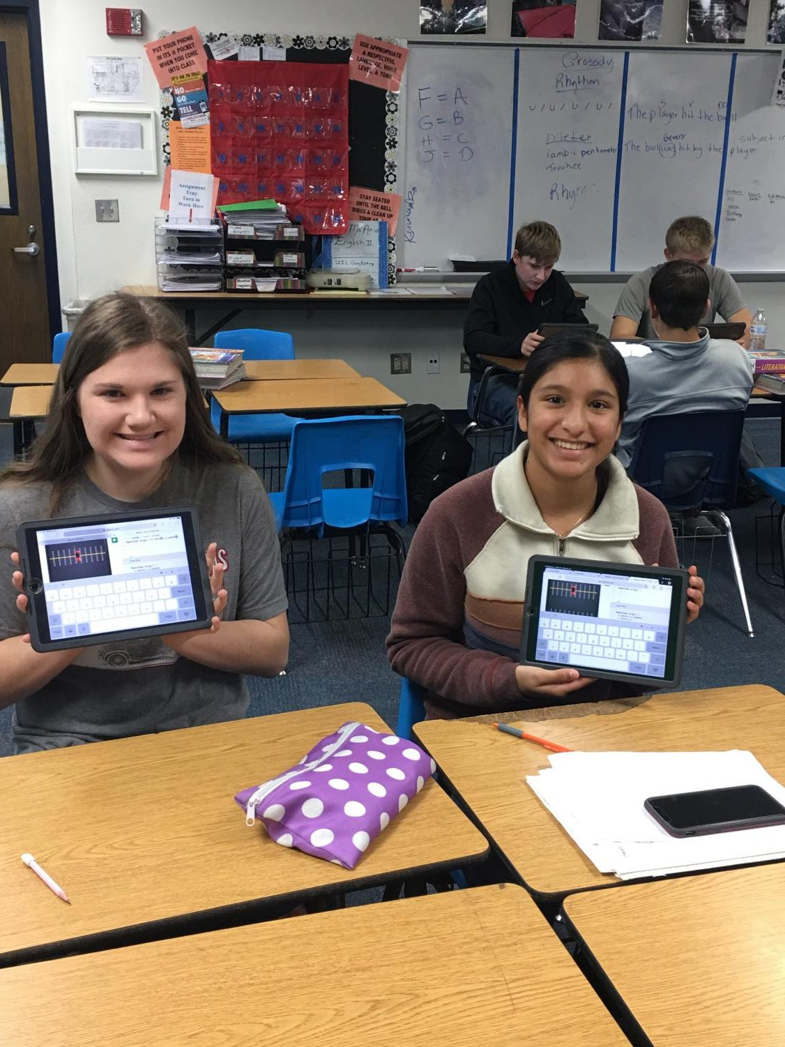 High school students show off their coding skills Dec 12, 2018 during the National Hour Of Code