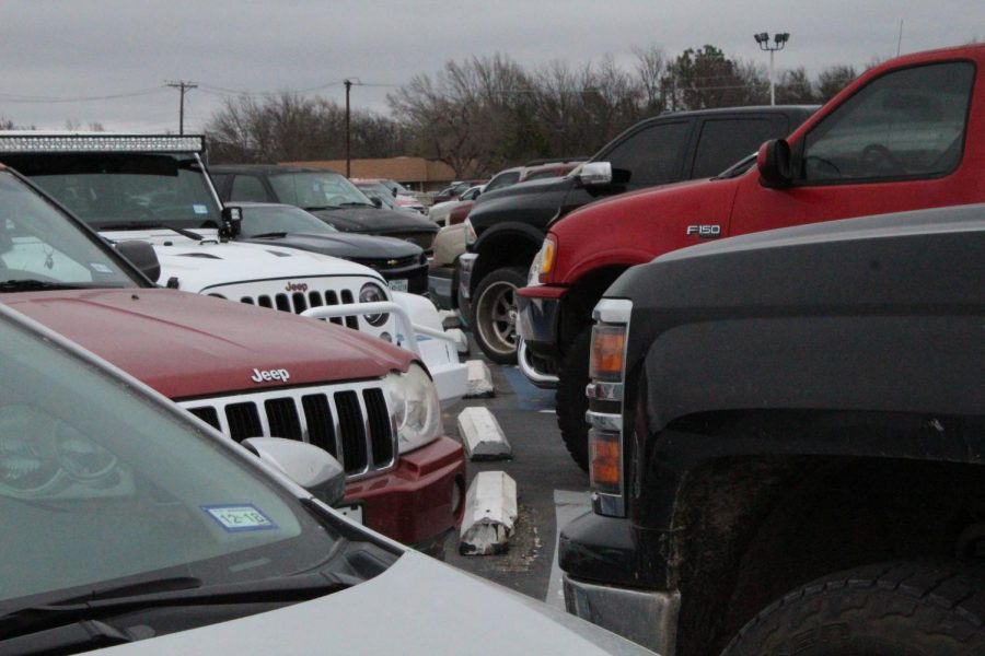 Bumper to bumper cars parked in the school parking lot and along the side streets cause problems.