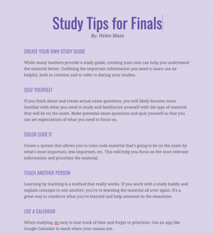 Study Tips for Finals