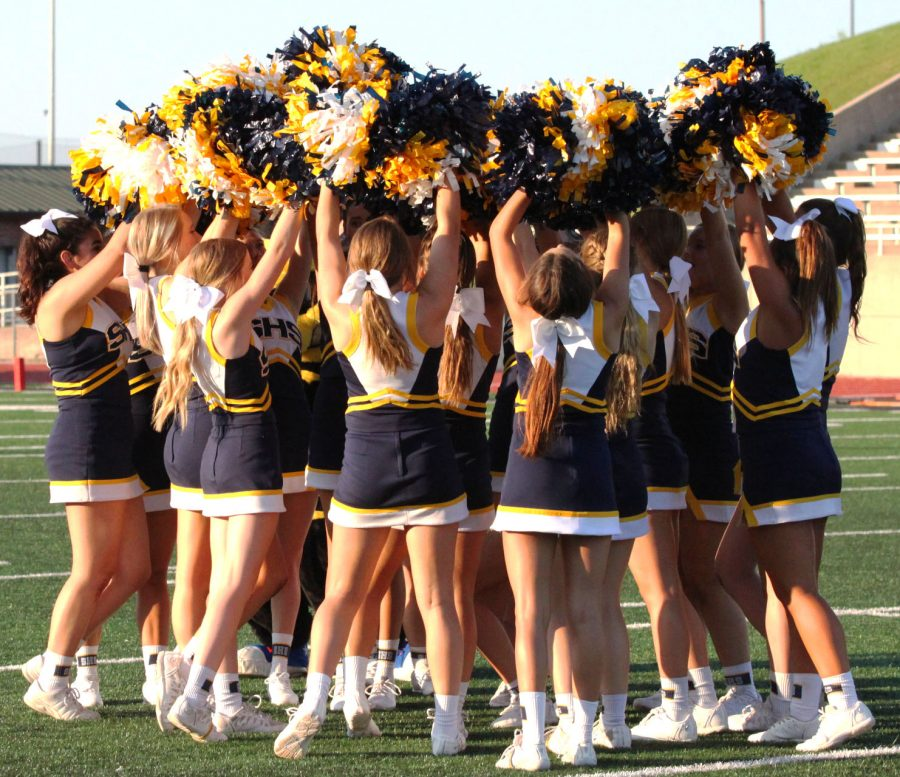 The+cheerleaders+getting+the+crowd+pumped+before+the+game.
