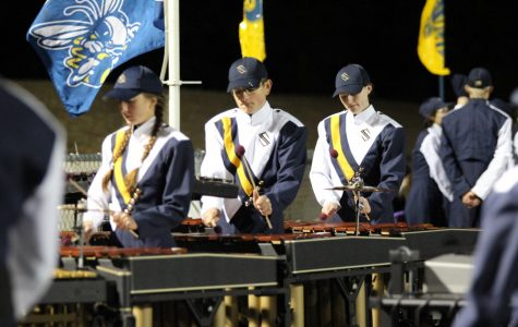 Band boosts school spirit at Sville vs Dunbar playoff game