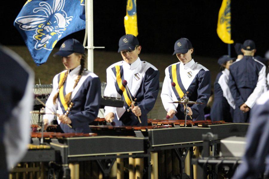 Band boosts school spirit at Sville vs Dunbar playoff game